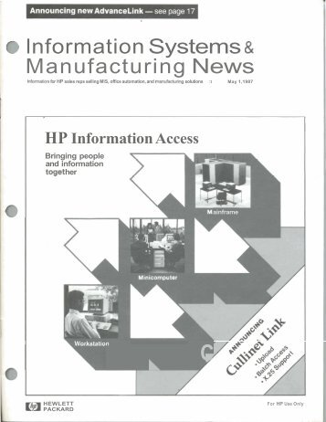 Information Systems Manufacturing News - HP Computer Museum