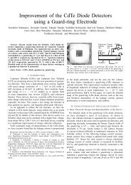 Improvement of the CdTe Diode Detectors using a Guard-ring ...