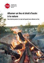 Allumer un feu et droit d'accès à la nature Vous devriez penser à ce ...