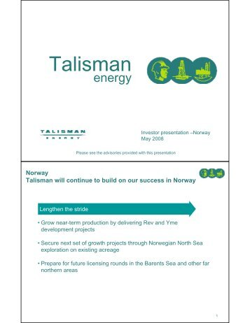 talisman energy inc the decision to Canada's talisman energy inc is giving up its eight-year-long effort to produce oil in peru, the company said on thursday, as it continues to shed assets in a bid to boost its share price.