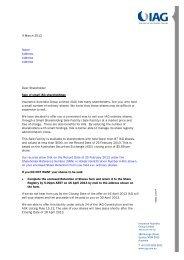 4 March 2013 Name Address Address Address Dear ... - IAG
