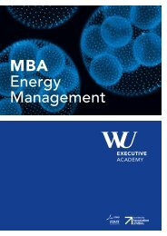 MBA Energy Management brochure - WU Executive Academy