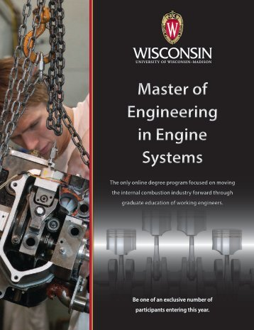 Master of Engineering in Engine Systems - University of Wisconsin ...
