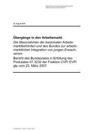 Bericht des Bundesrates - admin.ch