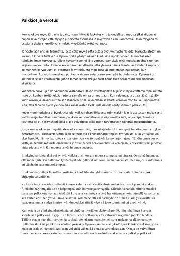 laskutus ja verotus.pdf - Nikkemedia.fi