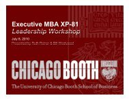 P - Chicago Booth Portal