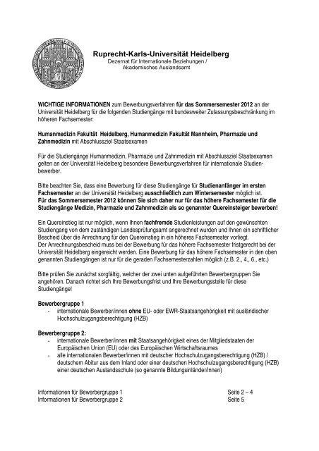 Uni Berlin Bewerbung
