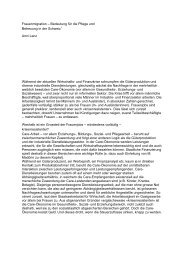 Bedeutung für die Pflege und Betreuung in der ... - Über die AGGP
