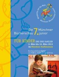 Die Bücherschau Münchner junior - Münchner Bücherschau junior
