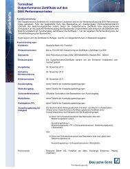 Termsheet vom Ausgabetag - Deutsche Bank
