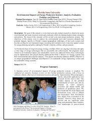 May 2011 Progress Report - Florida Energy Systems Consortium