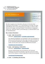 IT-Recht Newsletter Januar 2011 - Dr. Axel Czarnetzki LL.M.
