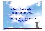 Global Internship Programme 2012