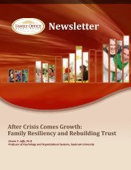 After Crisis Comes Growth - the Family Office Association