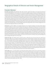 Biographical Details of Directors and Senior Management