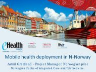 Mobile health deployment in N-Norway - World of Health IT