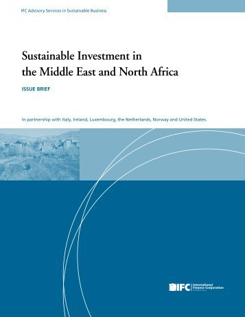 Sustainable Investment in the Middle East and North Africa - IFC