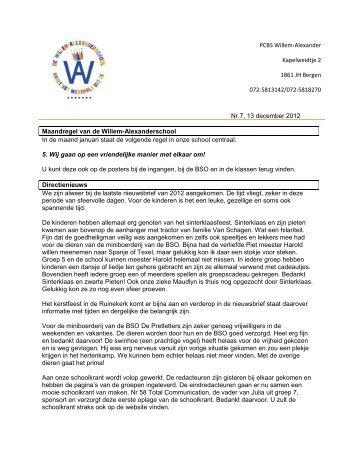 Nieuwsbrief 7, 13 december 2012.pdf - School - Stichting Tabijn