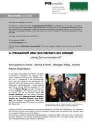 Newsletter - Moritz Apotheke