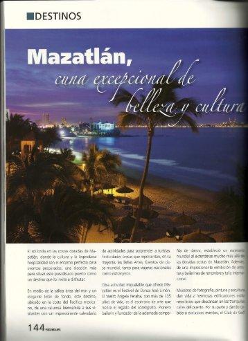 Mazatlán, Cuna Exce pcional de Belleza y Cultura - El Cid Resorts
