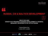 RUSSIA, CIS & BALTICS DEVELOPMENT - Carlson