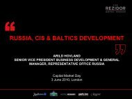 RUSSIA, CIS & BALTICS DEVELOPMENT - Carlson