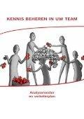 Kennis beheren in uw team. Analyserooster en verbeterplan - Fedweb - Page 3