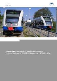 Allgemeine Bedingungen für die Nutzung von Infrastruktur von ...