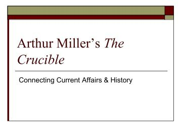 the key aspects of a witch hunt in the crucible by arthur miller and paradise lost Literature the most comprehensive, accurate, and useful guides to classic and contemporary lit on the internet whether you're studying hamlet or hunger games, we'll make sure you get the big idea.