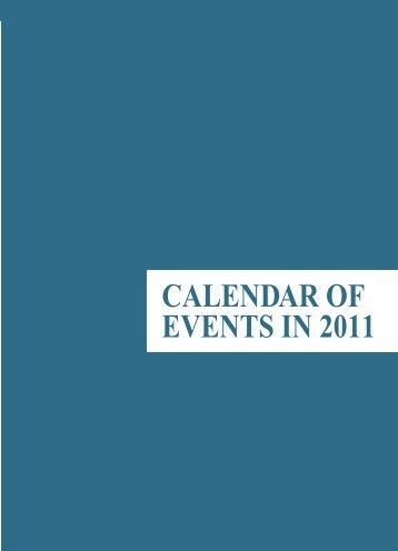 CALENDAR Of EVENTS IN 2011 - Macao Yearbook
