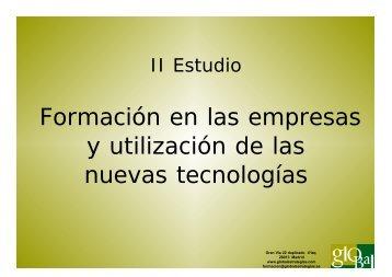 Formación en las empresas y utilización de las ... - Telecentros.info