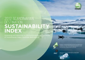 2012 Scandinavian Destination Sustainability Index - ICCA