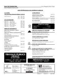 Volume 7, Numéro 05, Juin 2009 - Ville de Donnacona