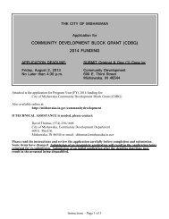 (cdbg) 2014 funding - City of Mishawaka