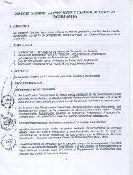 Directiva sobre la provisión y castigo de cuentas ... - Cenfotur