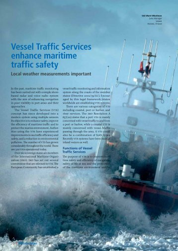 Vessel Traffic Services enhance maritime traffic safety - Vaisala