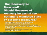 Can Recovery be Measured? - Australian Mental Health Outcomes ...