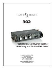 Sound Devices 302 - Ambient Recording