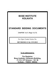 tender document - Bose Institute