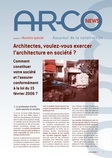 Architectes, voulez-vous exercer l'architecture en société ? - AR-CO ...