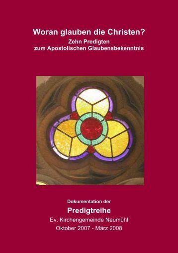 Predigtreihe Neumühl 08 - Evangelischer Kirchenkreis Duisburg