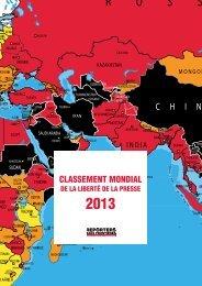 classement mondial - Reporters sans frontières
