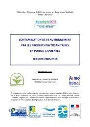 Rapport descriptif de 32 pages - Ecophyto 2018 en Poitou-Charentes