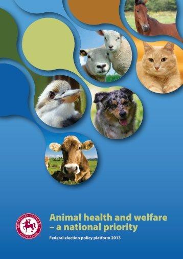 Animal health and welfare - Australian Veterinary Association