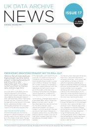UK Data Archive News Issue 17 September - November 2011