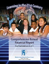 Year Ended June 30, 2011 - Pasco County Schools