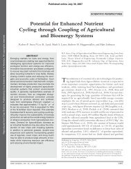 Potential For Enhanced Nutrient Cycling Through Coupling Of