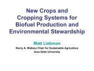 New Crops and Cropping Systems for Biofuel Production and ...