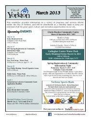 March 2013 - City of Yorkton