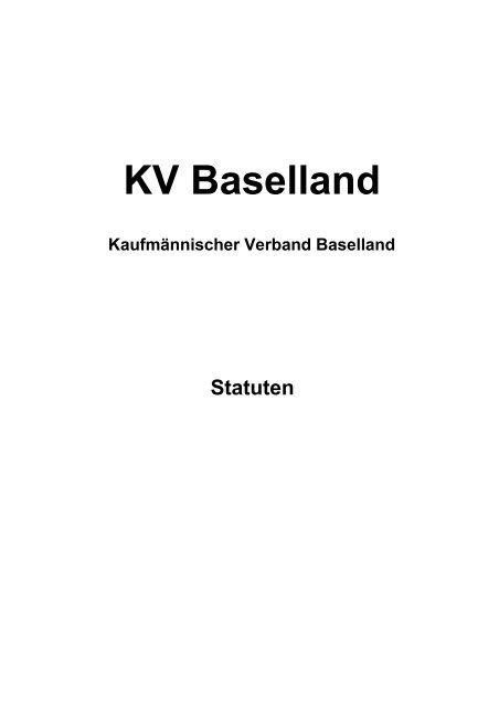 Statuten - KV Schweiz